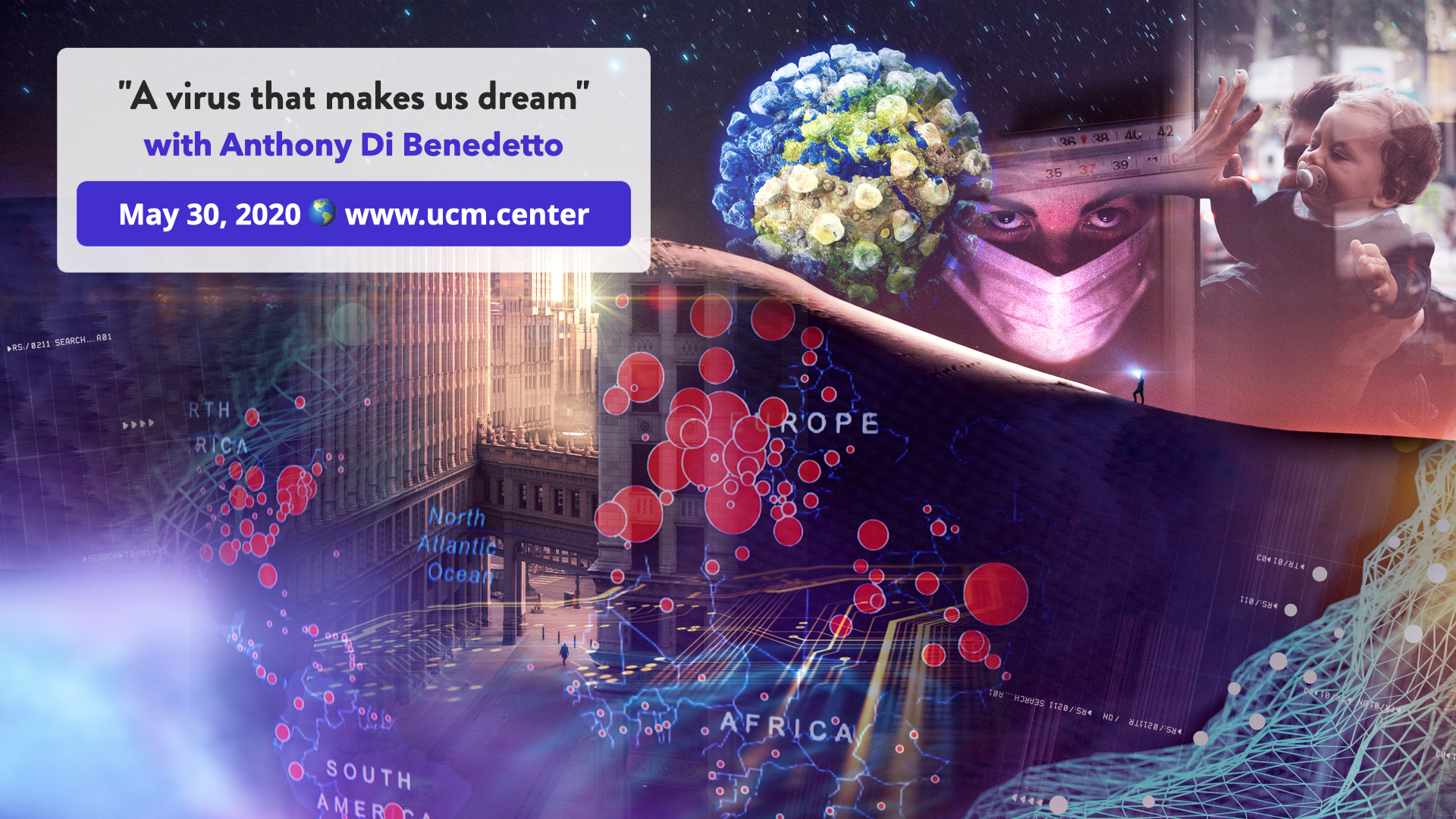 Banner web conference - A virus that makes us dream - Anthony Di Benedetto